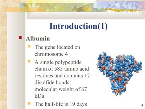 The relationship between serum albumin concentration and