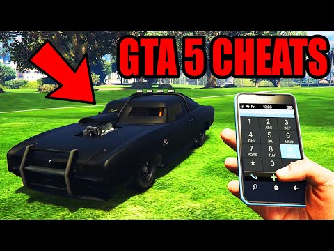GTA 5 - NEW Cell Phone Cheat Code Numbers (GTA V PS4