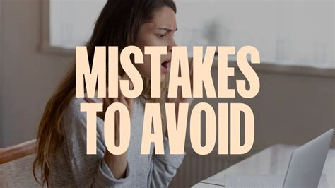 Five Major Mistakes To Avoid When Starting Out as a