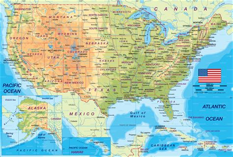 Map of United States (the USA) (General Map / Region of