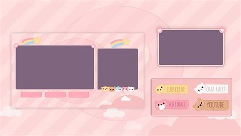 Cute Stream Overlay & Panels in 2020 | Twitch, Overlays