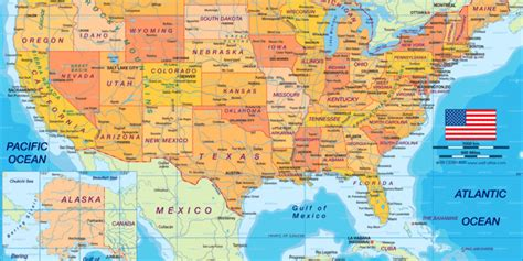 Map of USA politically (Country) | Welt-Atlas